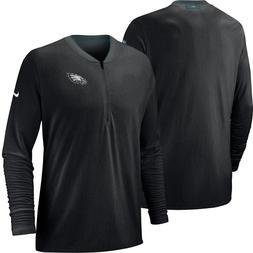 Philadelphia Eagles Nike Sideline Coaches Half-Zip Pullover