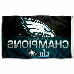 Philadelphia Eagles Super Bowl LII 52 2017 Champions 3 by 5