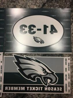 Philadelphia Eagles Super Bowl Season Ticket Car Magnet Refr
