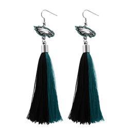 Philadelphia Eagles Tassel Earrings NFL Authentic Made by Li