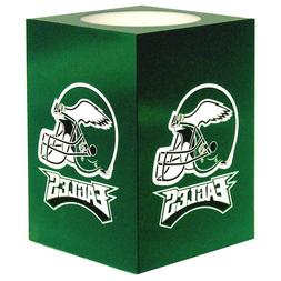 Philadelphia Eagles Team NFL Square Flameless Candle Green L