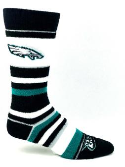 Philadelphia Eagles For Bare Feet Women's Soft Stripe Crew-L