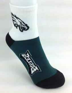 Philadelphia Eagles Youth Quarter Socks Green White and Blac