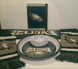 philladelphia eagles scarf chip and dip tray