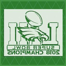 Philly Philadelphia Eagles Stencil 14x11 10x8 - Reusable Tem