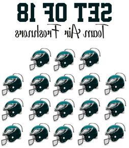 set of 18 philadelphia eagles team helmet