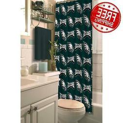 Shower Curtain Bathroom Bath Philadelphia Eagles NFL Polyest