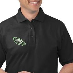 vintage philadelphia eagles embroidered golf polo shirt